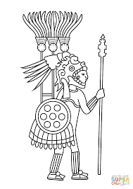 aztec warrior coloring page free printable coloring pages vc
