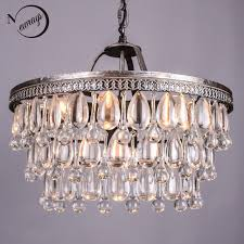 Restoration Hardware Light Fixtures by Aliexpress Com Buy Vintage Glass Drops Led Crystal Chandeliers