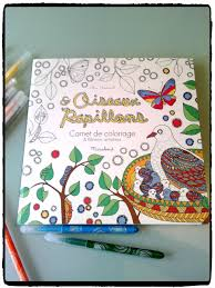 Carnets de coloriage  Oiseaux et Papillons  Mes humeurs créatives