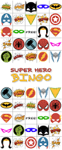 Halloween Bingo Free Printable Cards by Free Printable Super Hero Bingo Party