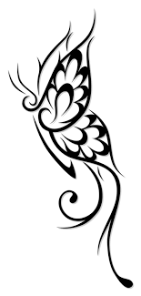 amazing flowery tribal butterfly design sle tattoomagz