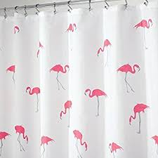 Gray And Pink Curtains Mdesign Flamingo Fabric Shower Curtain 72 X 72