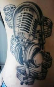 fabulous band mic tattoo design music tatoos pinterest band