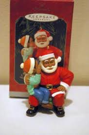 hallmark 1996 request ornament black santa what s it worth
