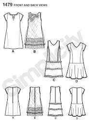 pattern a line shift dress simplicity 1479 girls girls plus shift dresses