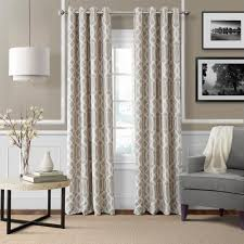 Window Curtains Elrene Blackout Linen Blackout Window Curtain Panel 52 In