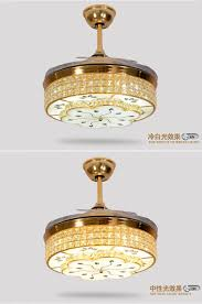 led quiet hidden blade stainless ceiling fan led lamp led