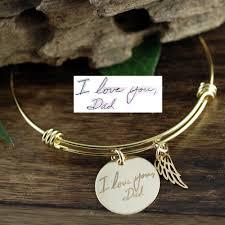memorial bracelets for loved ones gold handwriting memorial jewelry memorial bracelet bereavement