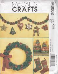 mccall u0027s crafts m6002 christmas craft sewing pattern wreath