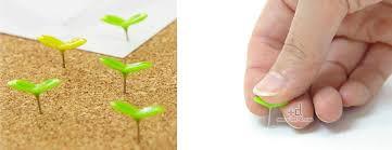 Pushpins Green Pins Sprout Push Pins The Green Head