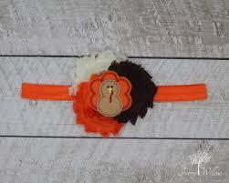 turkey headband thanksgiving headband fall headband orange
