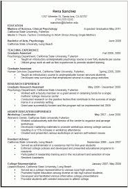 curriculum vitae for graduate template resume exles for graduate best resume collection
