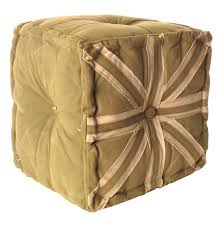 Canvas Ottoman by Sage Frost Union Jack Canvas Tarp Cube Ottoman Kathy Kuo Home