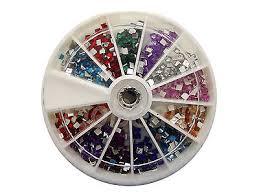 6cm nail art gems jewels design craft nails wheel 2mm square mixed