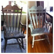 Refurbished Chairs Refurbished Rocking Chair Using Chalk Paint皰 Decorative Paint By