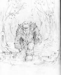 forest troll pencil sketch by de prime on deviantart