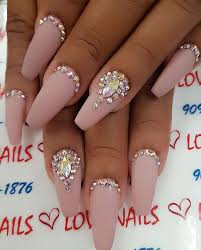top 25 best rhinestone nail designs ideas on pinterest coffin
