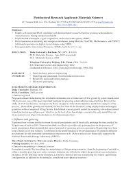 Failure Analysis Engineer Resume Phd Cv Postdoctoral Research