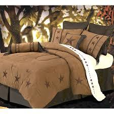 Tan Comforter Laredo Star Embroidery Dark Tan Luxury Comforter Set Super Queen