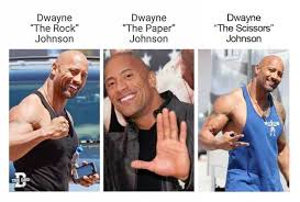 Magic Johnson Meme - dwayne rock paper scissors dwayne johnson internet meme magic