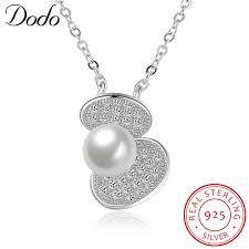 sted necklace dodo lovely shell freshwater pearls link chain pendant necklaces