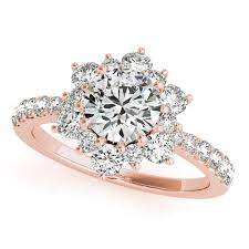 engagement rings flower images Rose gold engagement rings diamonds cubic zirconia cz jpg
