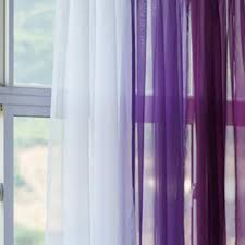 purple sheer curtain drapery purple eyelet ring top voile net