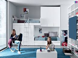 white teen bedroom wall themes combined by wooden loft bed with