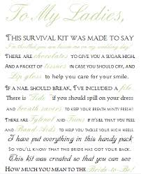 asking bridesmaids poems bridesmaid s day of survival kit weddingbee photo gallery