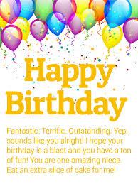 birthday balloon cards for niece birthday u0026 greeting cards by