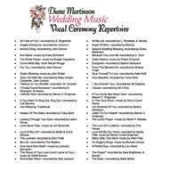 wedding songs song list for minnesota wedding singer wedding ceremony