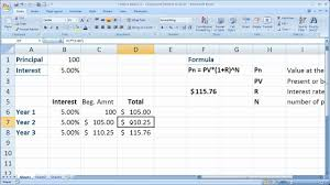 Retirement Calculator Excel Spreadsheet Finance Basics 2 Compound Interest In Excel Youtube