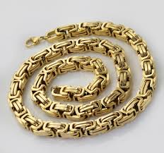 best gold chain necklace images Wholesale retail 8 quot 40 quot stainless steel gold color byzantine jpg