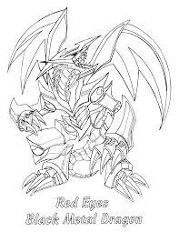 yugioh paradijs kleurplaat red eyes black metal dragon