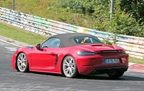 porsche prototype porsche 718 boxster gts prototype spotted at the nurburgring