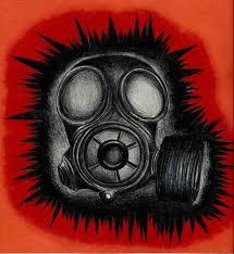 saatchi art gas mask drawing by megan brock