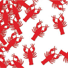 crawfish decorations metallic die cut lobster crawfish confetti table scatter