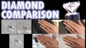 diamond clarity chart scale diamond size comparison color clarity 2 carat 1 ct ring on finger