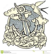anchor stock vector illustration of background