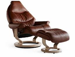 stressless voyager large recliner chair with ottoman by ekornes