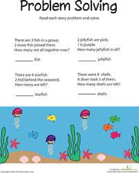 problem solving subtracting sea life worksheet education com