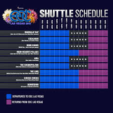 Las Vegas Downtown Map by How To Redeem Your Edc Las Vegas 2015 Shuttle Pass Insomniac