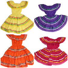 assorted girls mexican gypsy peasant lace dress cinco de mayo