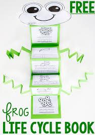 free printable frog life cycle fold up book life over cs
