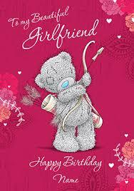 birthday card girlfriend birthday card messages cute print cards