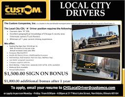 Resume For Cdl Driver The Custom Companies Inc