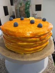 is it a stack of pancakes or maybe an illusion cake filled