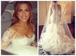 arabic muslim bridal vestido de noiva long sleeve mermaid wedding