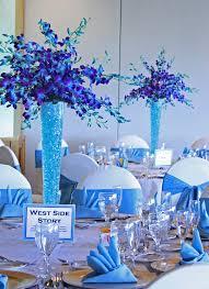 Blue Wedding Centerpieces by Best 25 Purple Turquoise Weddings Ideas On Pinterest Peacock