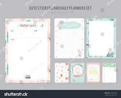 template for daily planner cute daily planner template note paper stock vector 473483344 cute daily planner template note paper and stickers set with funny illustrations background good